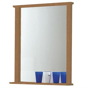 Wandspiegel cognacfarben gebeizt