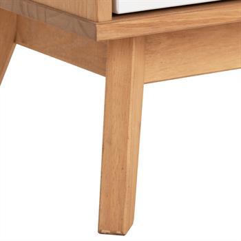 Lowboard 2türig gebeizt/weiß