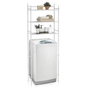 Waschmaschinenregal LAVADORA  mit 3 Ablagen in weiß