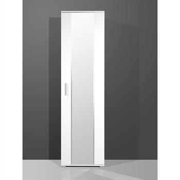 Garderobenschrank in weiß mit Spiegel