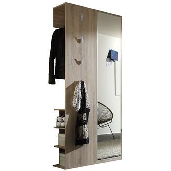 Garderobe in Eiche sägerau mit Spiegel