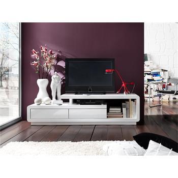 TV Lowboard in hochglanz weiß