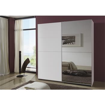 Schwebetürenschrank mit Spiegel, 180 cm