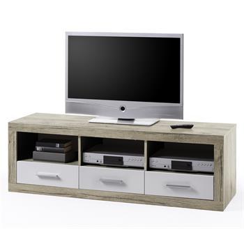TV-Lowboard in San Remo, weisse Fronten
