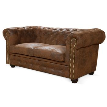 Chesterfield Sofa GRACE, 2-Sitzer, Dekonägel