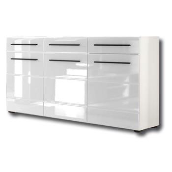 Sideboard Kommode CLARA in weiß hochglanz