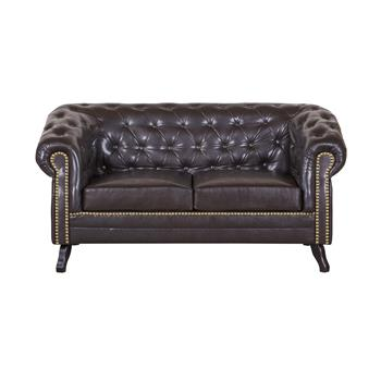 2-Sitzer Chesterfield Sofa ENIO, antikbraun
