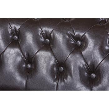 Chesterfield Sessel GRACE, braun, Dekonägel