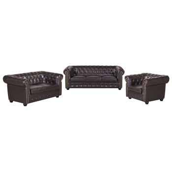 2-Sitzer Chesterfield Sofa GRACE, Dekonägel