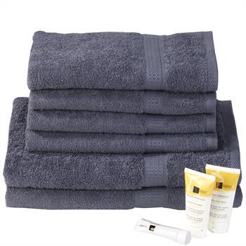 6-tlg. Handtuch & Duschtuch Set PACO, anthrazit