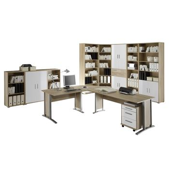 Büromöbel Set OLE in Sonoma Eiche / weiß