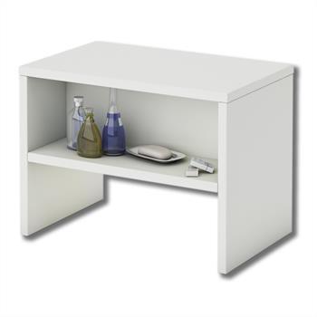 Nachttisch NEY, weiß mit 1 Fach, 40 cm breit