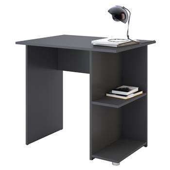 Schreibtisch KUBA in anthrazit mit 2 Ablageflächen