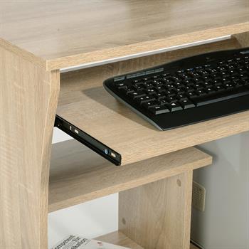 Computerschreibtisch REZI mit Tastaturauszug und Rollen