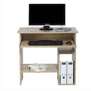 Computertisch LOTTA mit Tastaturauszug 80 cm breit