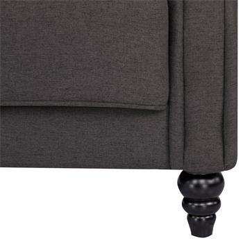 Retro 3-Sitzer Schlafsofa CORAL mit Armlehnen in hellgrau