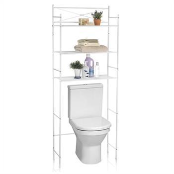 Toilettenregal MARSA mit 3 Ablagen in weiß