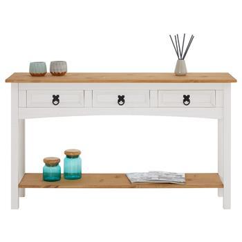 Konsolentisch CAMPO mit 3 Schubladen, weiß/braun