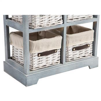 Kommode ROCCO in grau, mit 2 Schubladen und 4 Körben