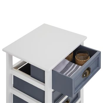 Kommode TOSCANA weiß mit 3 Schubladen