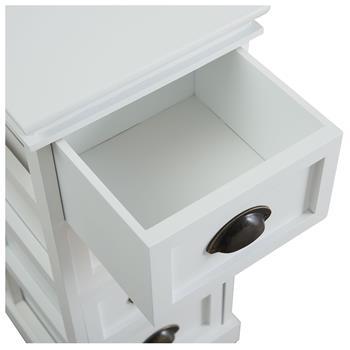 Kommode LANDHAUS in weiß mit 4 Schubladen