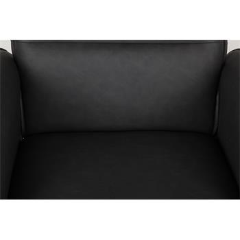Relaxsessel RENO mit Hocker in schwarz