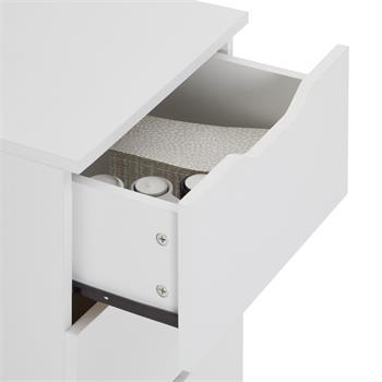 B-Ware Nachttisch NEPTUN weiß mit 3 Schubladen