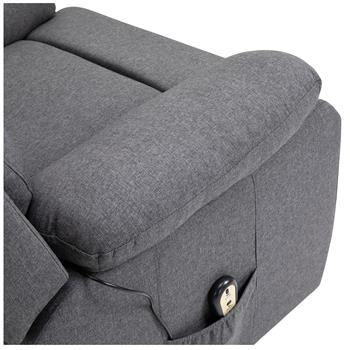 Relaxsessel AMELO mit elektrischer Aufstehhilfe, Stoffbezug grau