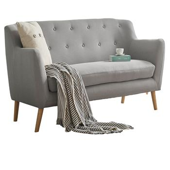3-Sitzer Sofa CESENA in grau, Stoffbezug