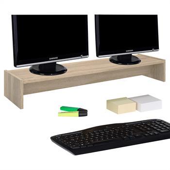 Monitorständer ZOOM 100 x 15 x 27 cm in Sonoma Eiche