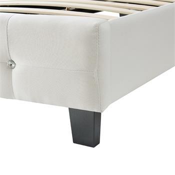 Polsterbett DELAWARE 90x200 cm, inkl. Lattenrost in weiß