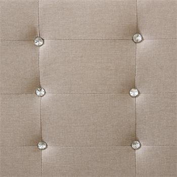 Polsterbett DELAWARE 90x200 cm, inkl. Lattenrost in beige