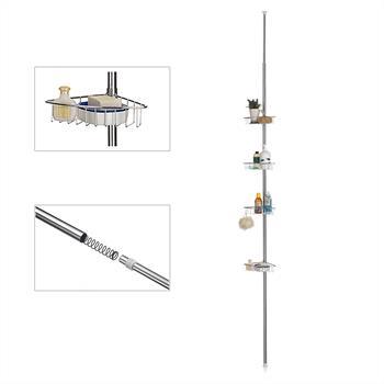Duschteleskopstange MELISSA mit 4 Metallkörben