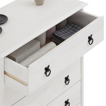 Kommode RESIDENCIA in weiß, 5 Schubladen
