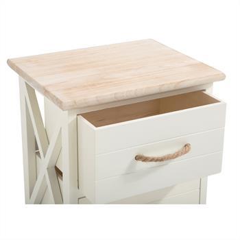 Nachttisch PERUGIA weiß, mit 2 Schubladen