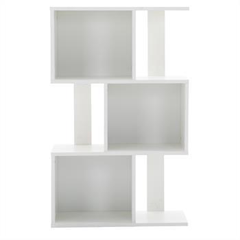 Raumteiler ODESSA in weiß mit 6 Fächern