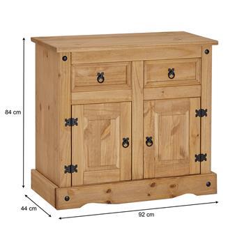 Anrichte SALSA Kiefer massiv mit 2 Schubladen, 2 Türen