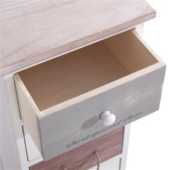 Schubladenregal SALVA in weiß mit 6 Schubladen