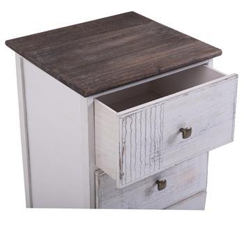 Nachttisch JUNA Shabby Chic mit 4 Schubladen