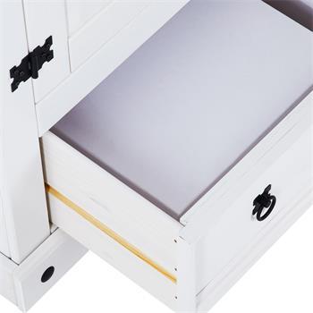 Kleiderschrank RURAL, Kiefer massiv in weiß