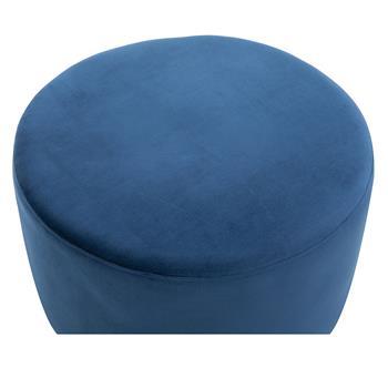 Hocker SESTO Samtbezug in blau