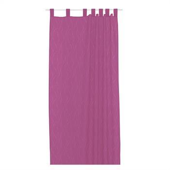 Schlaufenschal in pink, dezent gemustert