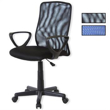Bürodrehstuhl mit Armlehnen in 2 Farben