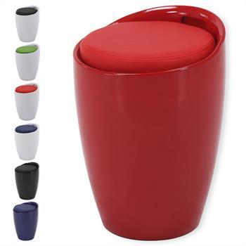 Sitzhocker mit Stauraum in verschiedenen Farben