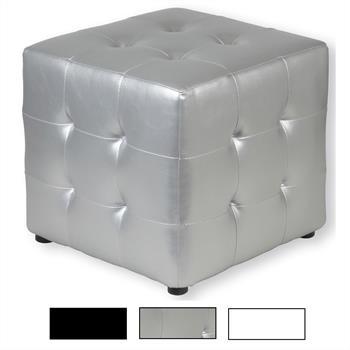 Sitzwürfel PINA aus Leder in 3 Farben