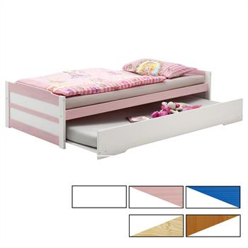 Funktionsbett 90x200 mit Auszugsbett in versch. Farben