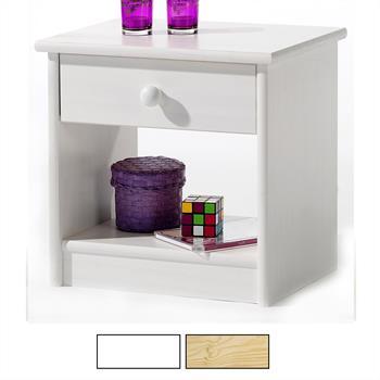 Nachtkommode mit Schublade und Ablagefach