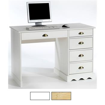 Schreibtisch, Kiefer massiv in 2 Farben