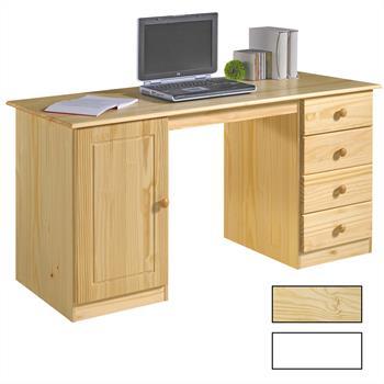 Schreibtisch in zwei Farben, Kiefer massiv