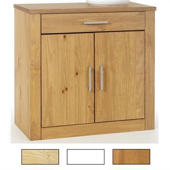 Kommode, Kiefer, 2 Türen und 1 Schublade